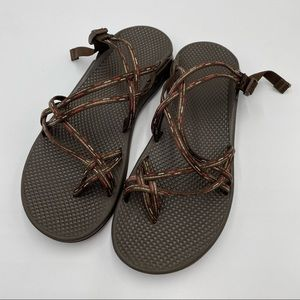 CHACO ZONG X Ecothread Sandals Slides Brown Straps